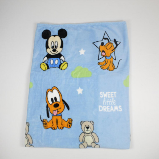 Manta Microfibra Disney Estampado Michey e Pluto - Jolitex
