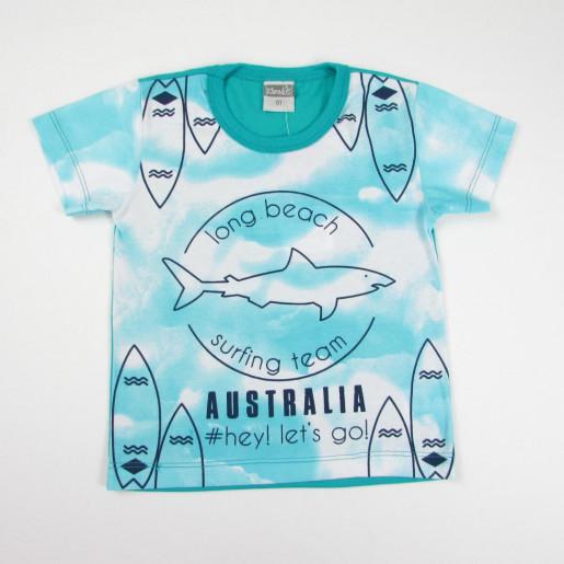 be27cf30a8e736 Camiseta Manga Curta Estampada Tubarão 11171 - Kamylus