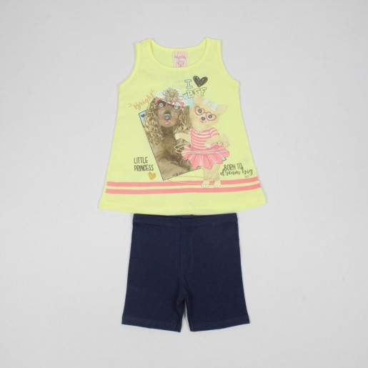 Conjunto Feminino Estampado Little Princess 32200 - Kely Kety