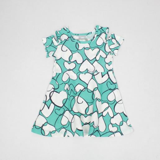 Vestido Estampado Corações 50313 - Kely Kety