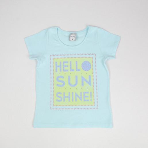 Blusa em Cotton Estampada Hello Sun Shine! com Strass 50613 - Kely Kety