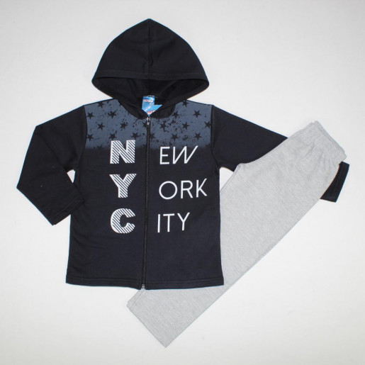 Conjunto Moletom Masculino Aberto NYC 32128 - Wrk