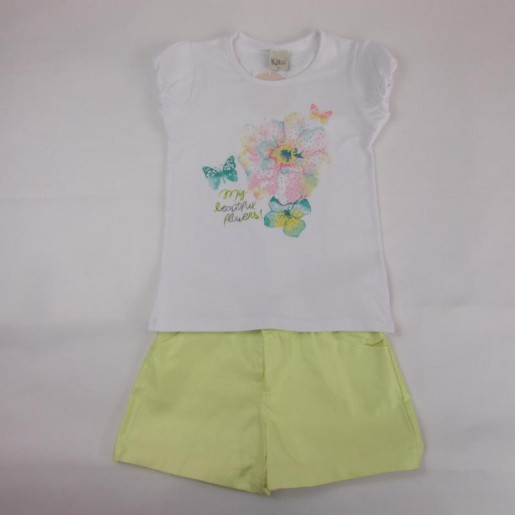Conjunto Feminino com Shorts Colorido 1294 Flores - Kiko