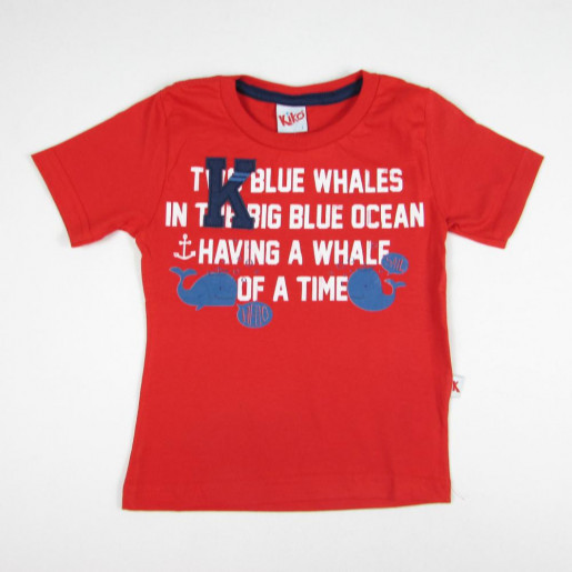 Camiseta Manga Curta Estampada Baleia 5267 - Kiko