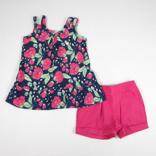 Conjunto Feminino Blusa Estampado Flores  5285 - kiko