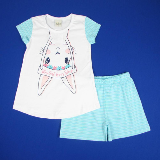 Pijama Curto Feminino Estampado Loves Sleep 5361 - Kiko