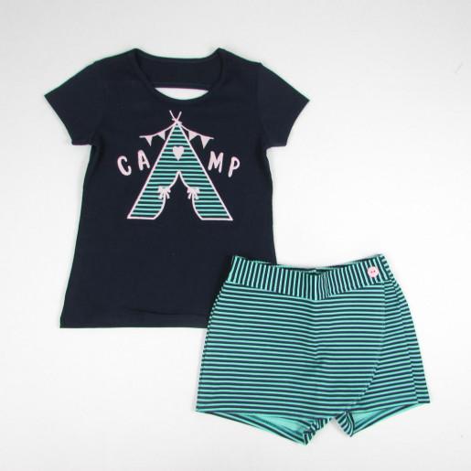 Conjunto Feminino Blusa Estampada Camp e Shorts 109155 - Kyly