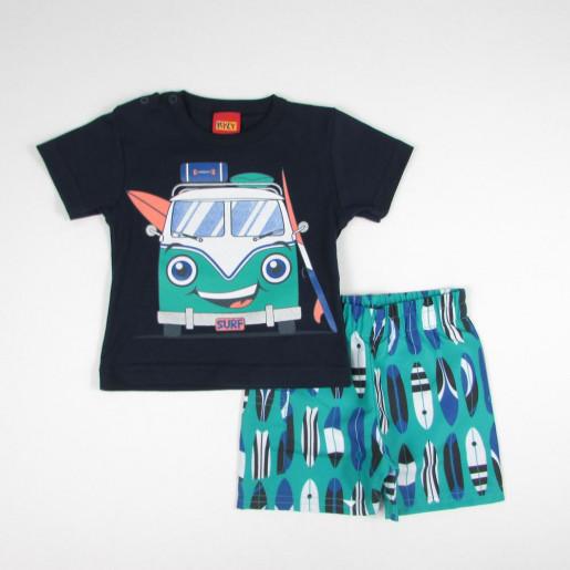 Conjunto Masculino Camiseta Estampada Kombi e Bermuda Tactel 109213 - Kyly