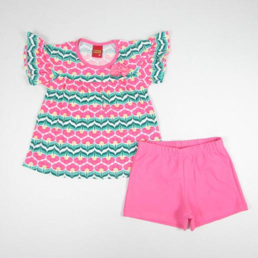 Conjunto Feminino Blusa Estampada Flores 109346 - Kyly