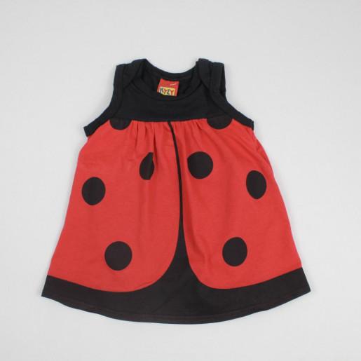 Vestido com Body Embutido Estampado Joaninha 110127 - Kyly