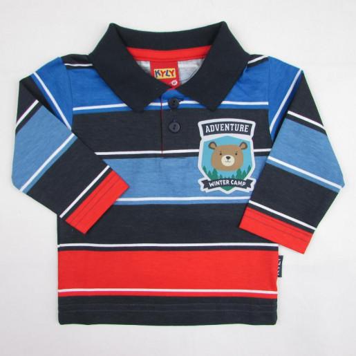 Camiseta Polo Masculina Listrada 206111 Urso - Kyly