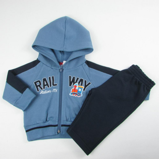 Conjunto de Moleton Masculino Aberto Estampado Rail Way 206422 - Kyly