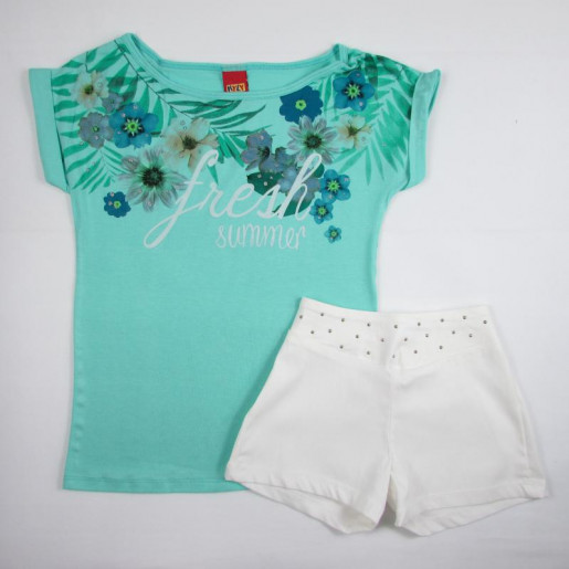 Conjunto Feminino Shorts com Tachas 107479 Fresh - Kyly