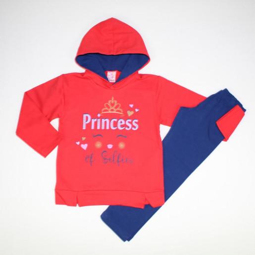 Conjunto Longo Feminino Estampado Princess 3675 - Lual Kids