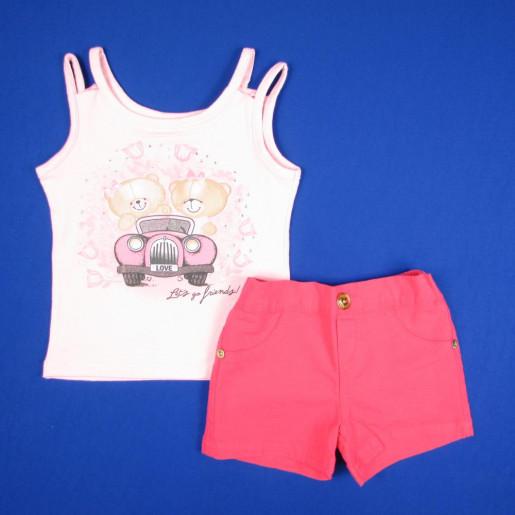 Conjunto Feminino com Shorts de Sarja Colorido 4510 - Mimo Sapeca