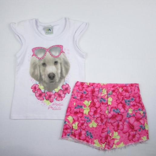 Conjunto Feminino com Saia Estampada Floral 1060000866 - Zig Zig Zaa