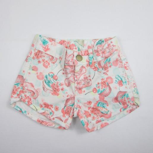 Shorts Feminino Sarja Estampado 1060000895 - Malwee