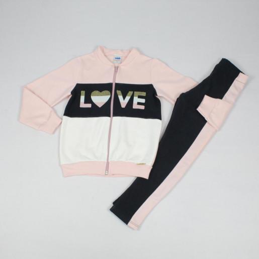 Conjunto Longo Feminino Blusa Moletom Love e Legging 22561 - Marlan
