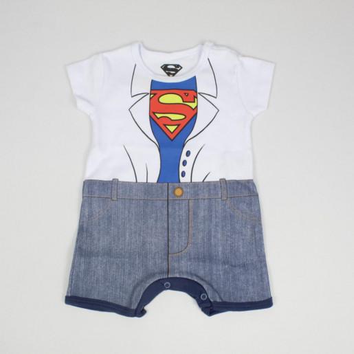 Macacão Curto Masculino Estampado Superman S6072 - Marlan