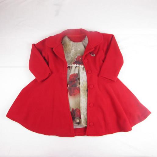 Vestido Floral com Sobretudo de Soft 1819 - Mini Miss