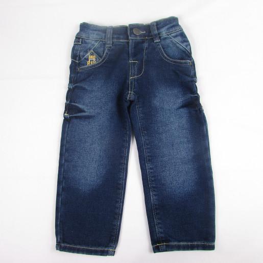 Calça Jeans Moleton com Ajuste na Cintura Masculina 0703 - Mister Boy
