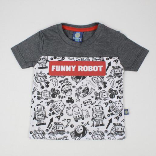 Camiseta Manga Curta Estampada Funny Root 3811 - Nellonda