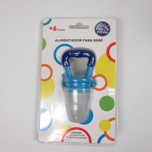 Alimentador de Silicone Frutas e Legumes Pequeno Azul 7841 - Pais e Filhos