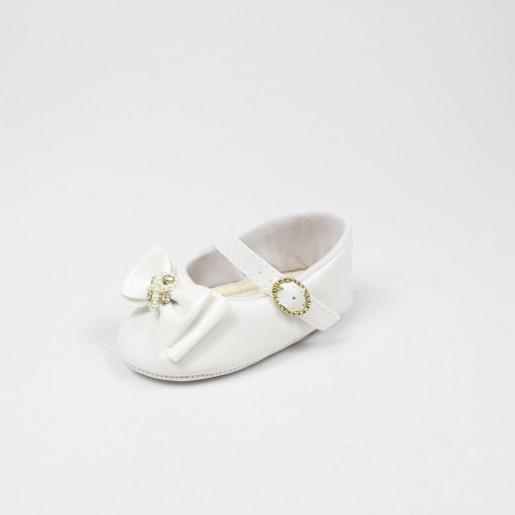 Sapato Feminino Batizado Laço com Strass 18719 - Pimpolho