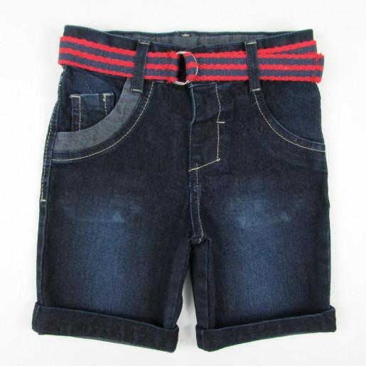 Bermuda Maculina Jeans com Cinto e Ajuste 145 - Popstar