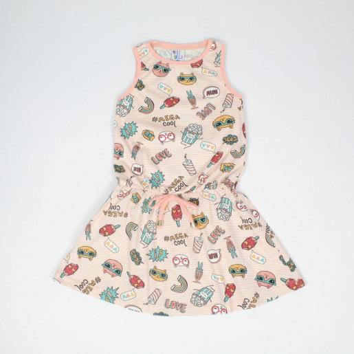 Vestido Estampado Objetos 39316 - Pulla Bulla