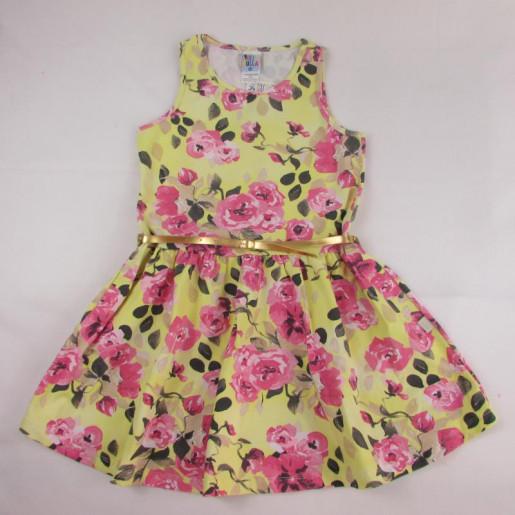 Vestido Floral com Cinto 33813 - Pulla Bulla