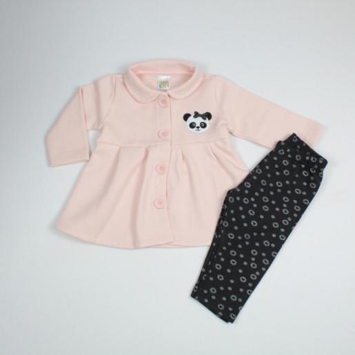 Conjunto Longo Feminino Casaco Panda e Legging 38527 - Pulla Bulla
