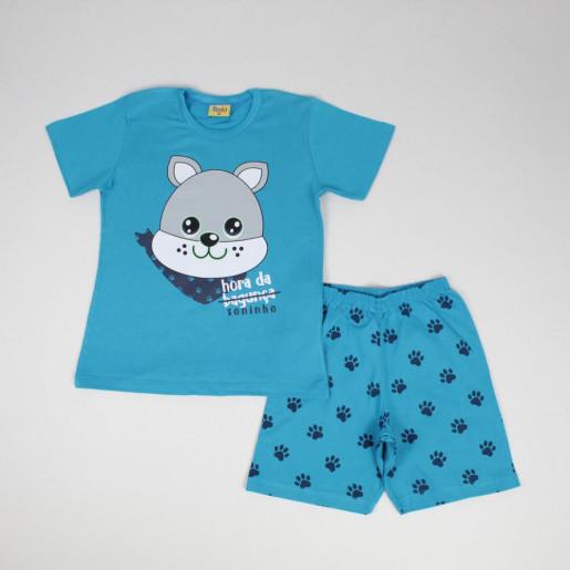 Pijama Curto Masculino Estampa Dog Brilha no Escuro 8292-2- Rolú