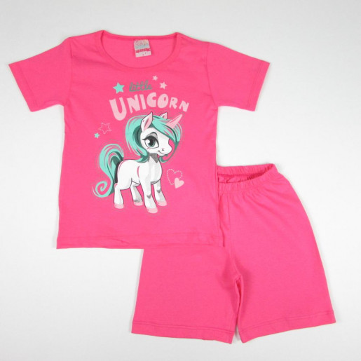 Pijama Curto Feminino Estampado Unicórnio 705 - Viston
