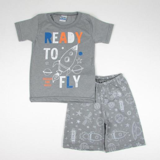 Pijama Curto Masculino Estampado Foguete 715 - Viston