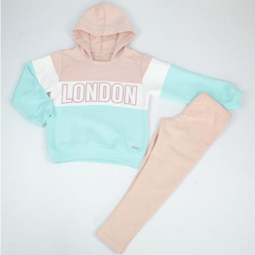 Conjunto Longo Feminino Blusa Moletom Estampada London e Legging 295606 - Vrasalon
