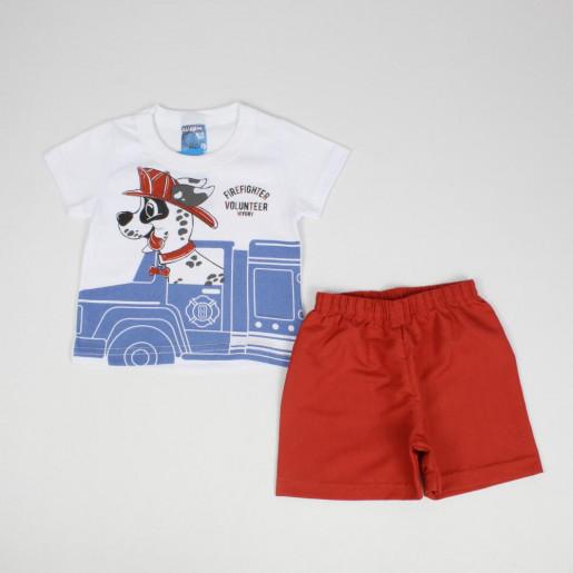 Conjunto Masculino Camiseta Estampada Dalmata e Bermuda Tactel 32138 - Wrk